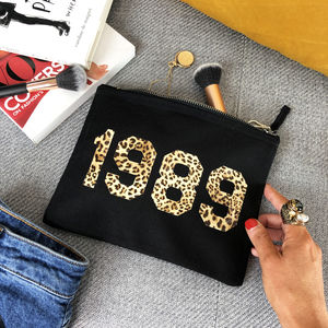 Personalised 'Year' Make Up Bag