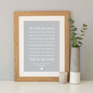 'My Wish For You' Personalised Baby Gift