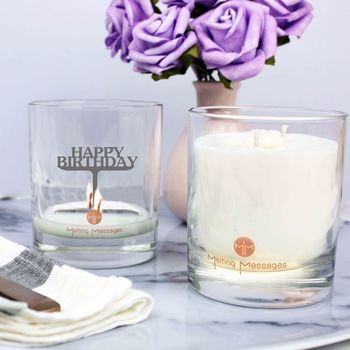 'Happy Birthday' Hidden Message Scented Candle