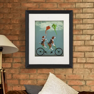 Beagle On Tandem Art Print