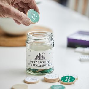 Personalised Grandad's Adventure Ideas Jar - best father's day gifts
