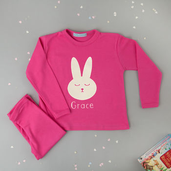 Personalised Childrens Bunny Pyjamas