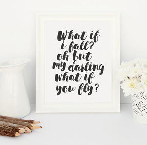 Darling What If You Fly? Art Print