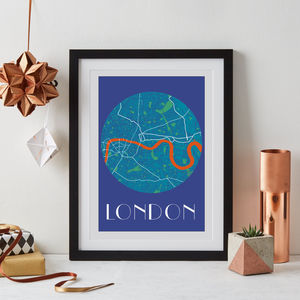London Map Print - maps & locations