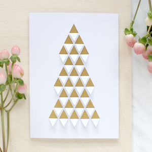 Cut And Folded Christmas Tree Card