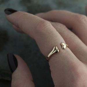Bone Wrap Ring Gold Or Silver - new in jewellery