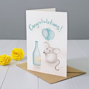 Congratulations Mouse Greeting Card