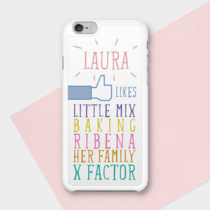 Likes Personalised Phone Case - winter sale
