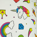 Bright Unicorn Pattern Drum Lampshade Choice Of Colours