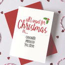 Personalised Christmas Wish List Card