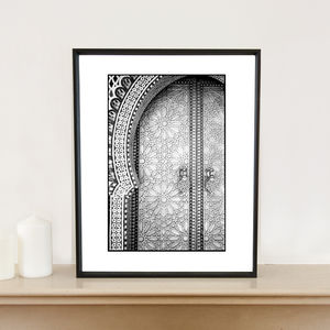 Ornate Doors, Fes, Morocco, Art Print - architecture & buildings