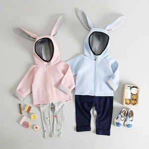 Bunny Feet Jacket And Pom Pom Leggings Set - clothing