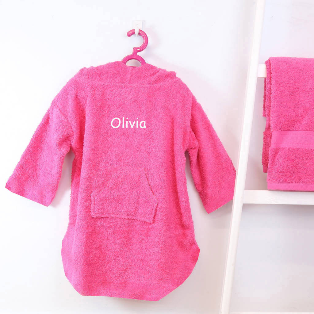 Personalised Children's Hooded Poncho