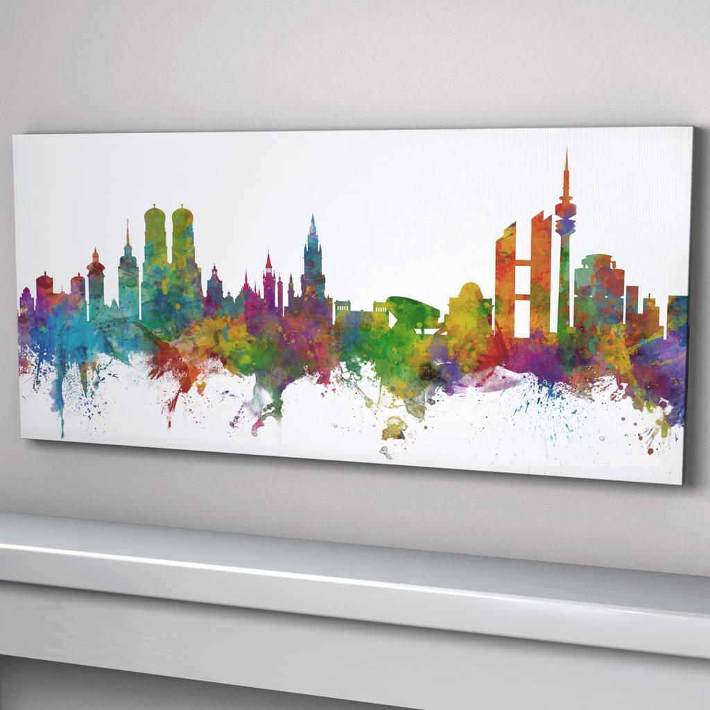 Munich Germany Skyline Cityscape Art Print