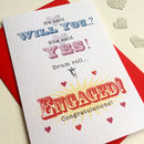 'Drum Roll…Engaged!' Greeting Card