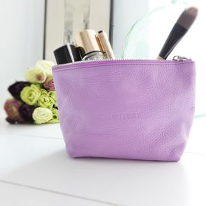 Italian Leather Cosmetic Bag - summer sale