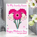 Personalised Flowers Mother's Day Card
