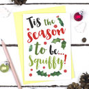 Funny Squiffy Christmas Card