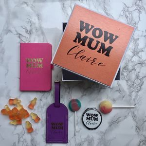Personalised Wow Mum Gift Set