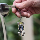 Personalised F1 Racing Car Chrome Keyring