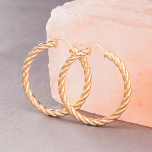 Spiral Hoop Earrings In Gold Or Silver