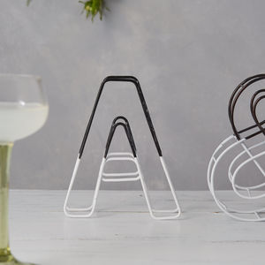 Monochrome Dip Wire Letter - outdoor decorations