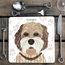 Buff Cockapoo Personalised Dog Placemat/Coaster