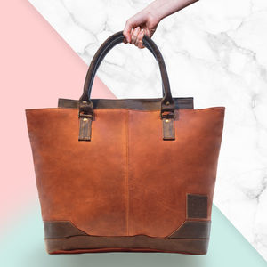 Personalised Leather Florence Tote Handbag - bags