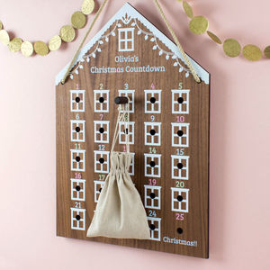 Personalised Advent Calendar House - advent calendars