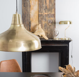 Oversized Industrial Brass Pendant Light - ceiling lights