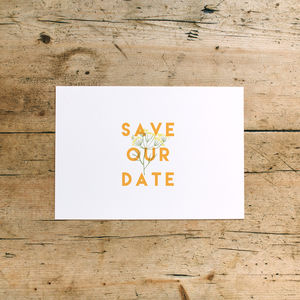 Herb Garden Wedding Save The Date Cards - black friday sale