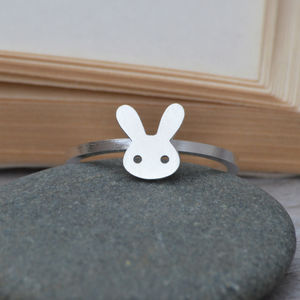 Sterling Silver Bunny Rabbit Ring - rings