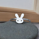 Sterling Silver Bunny Rabbit Ring