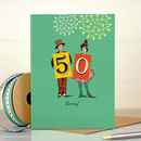 Funny 50th Birthday Card '50 Hooray!'