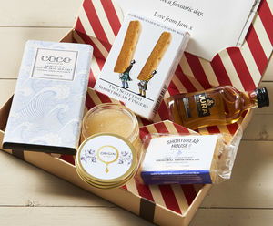 Best Of Scotland Letter Box Hamper W Single Malt Whisky - personalised