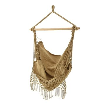 Cotton Sand Hammock Seat With Tassels