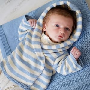 Baby Boy Hoodie And Blanket Gift Set - babies' cardigans