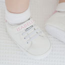 Personalised Velcro Trainers Pink