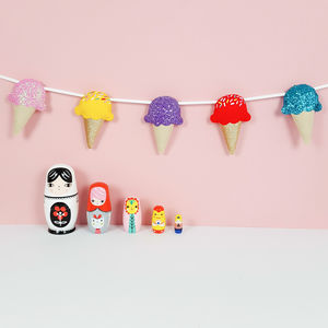 Bright Ice Cream Garland - children's room