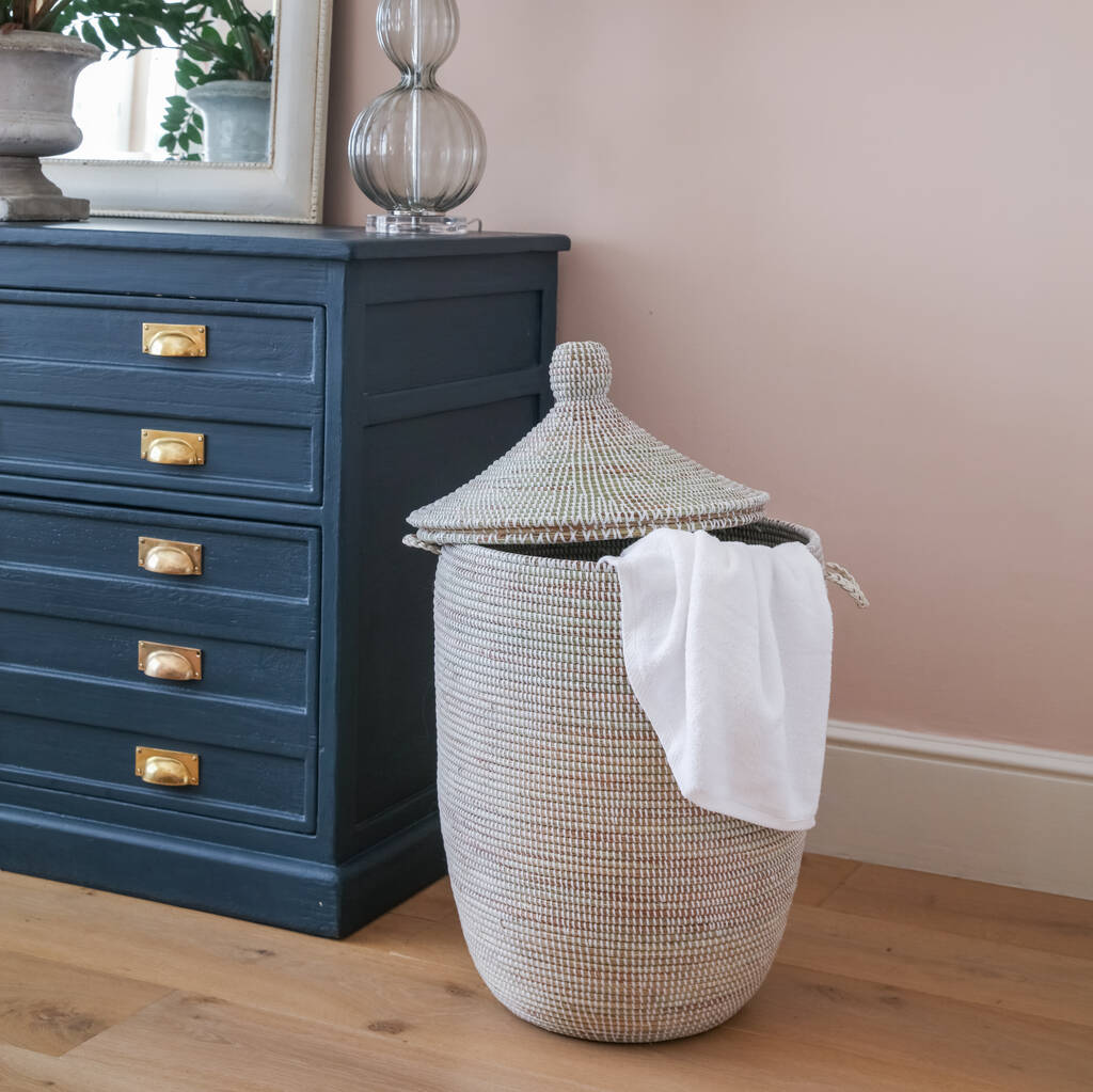 Natural Alibaba Handwoven Laundry Basket By Artisanne Notonthehighstreet Com