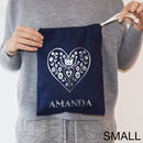Personalised Nordic Heart Silver Print Sack