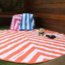 Personalised Round Micro Fibre Beach And Swim Towel