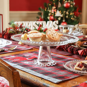 Glass Christmas Cake Stand - cake stands