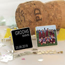 Personalised Wedding Party Photo Cufflinks