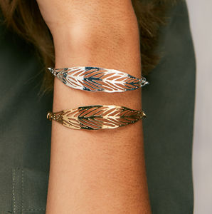 Gold Or Silver Leaf Bracelet - whatsnew
