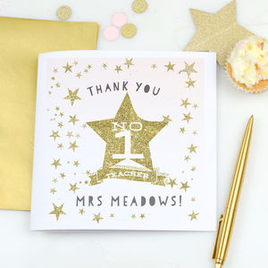Teacher's Thank You Card 'Star'