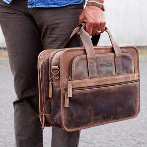 Personalised Double Laptop Briefcase Bag