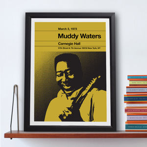 Muddy Waters Stereo Typist Chess Series Print