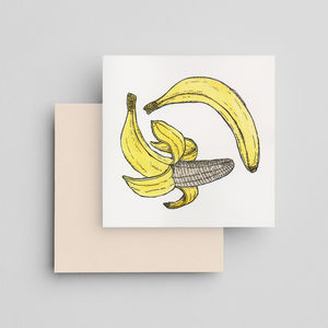 Hand Painted Banana Card - what's new