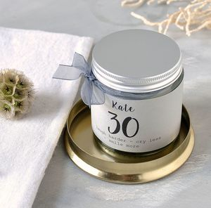 Personalised 30th Birthday Candle - candles & home fragrance